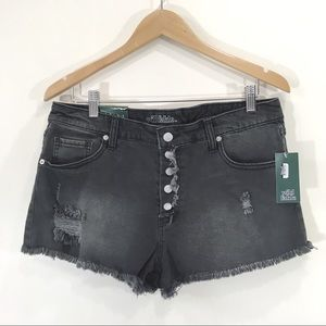 Wild Fable High Rise Shortie Shorts Grey S 14 Plus